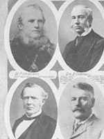 Photograph of the Postmasters General of Canada, including John�A.�Macdonald, 1851 - 1929
