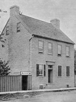 Photograph of Sir�John�A.�Macdonald's former residence on Rideau Street, Kingston, Ontario, where he lived during the Rebellion of 1837, 1891