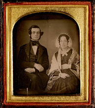 Photo encadrée de Samuel Leonard Tilley et Julia Ann Hanford, vers 1843